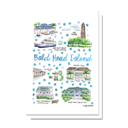 Bald Head Island, NC Map Card