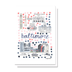 Baltimore, MD Map Card