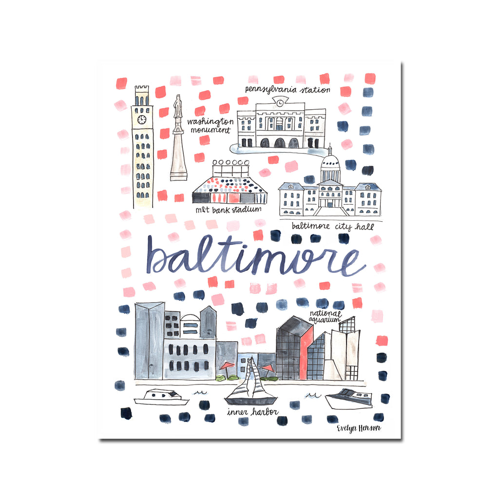 """Baltimore, MD"" Fine Art Print"