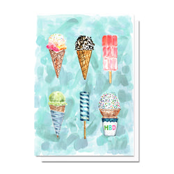 Birthday Ice Cream Card