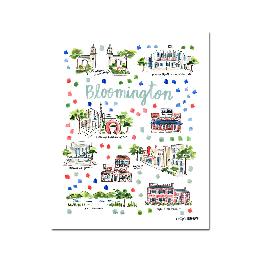 """Bloomington, IN"" Fine Art Print"