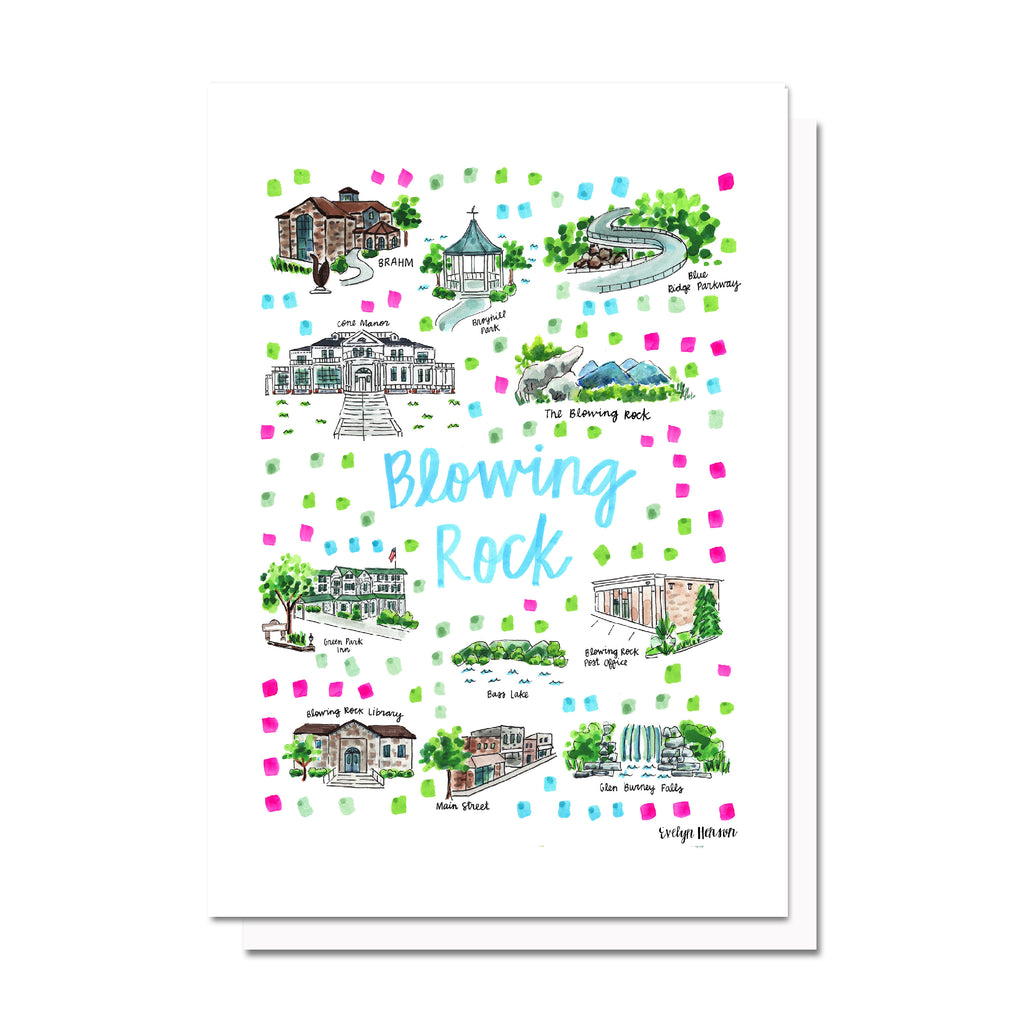 Blowing Rock, NC Map Card