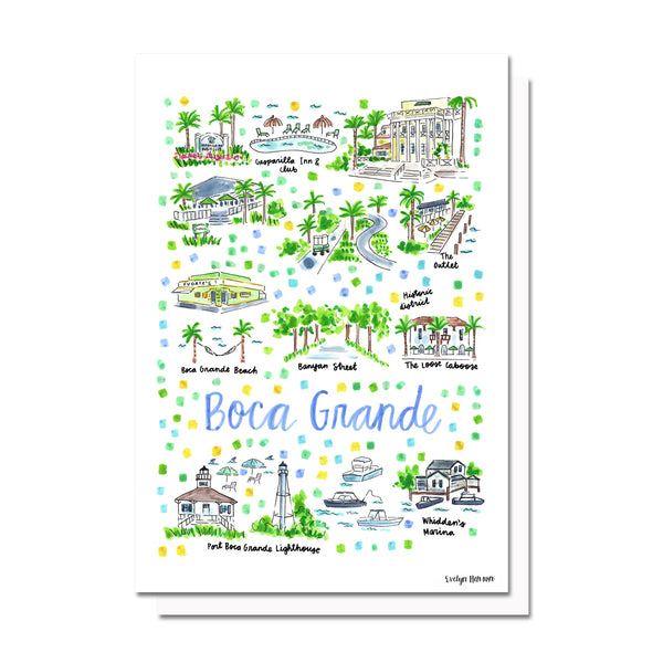 Boca Grande, FL Map Card