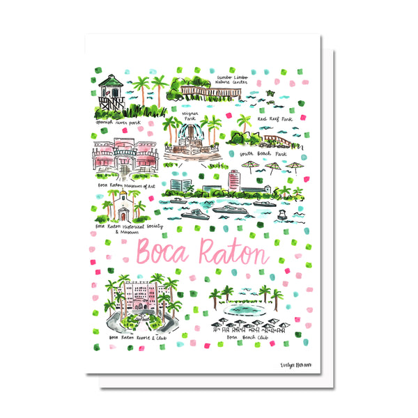 Boca Raton, FL Map Card
