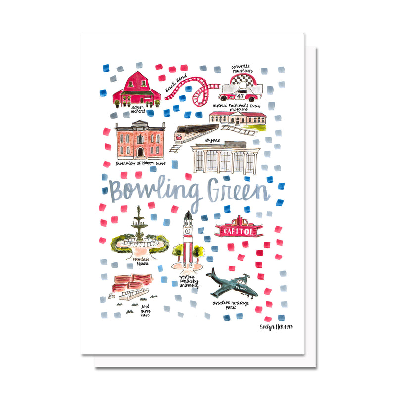 Bowling Green, KY Map Card