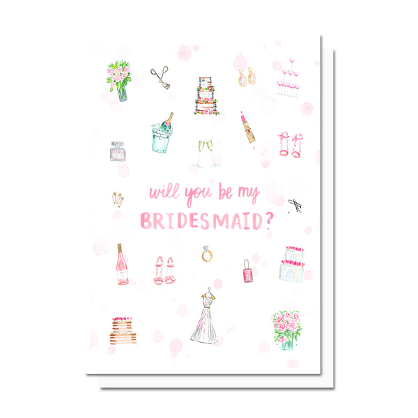 Bridal Party Things Bridesmaids/MOH Ask Card