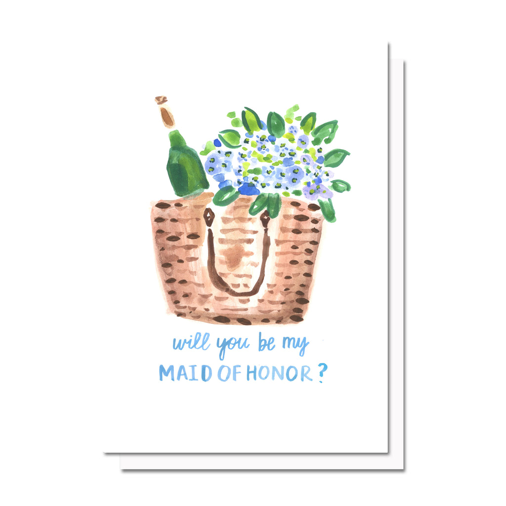 Bridal Tote Bridesmaids/MOH Ask Card