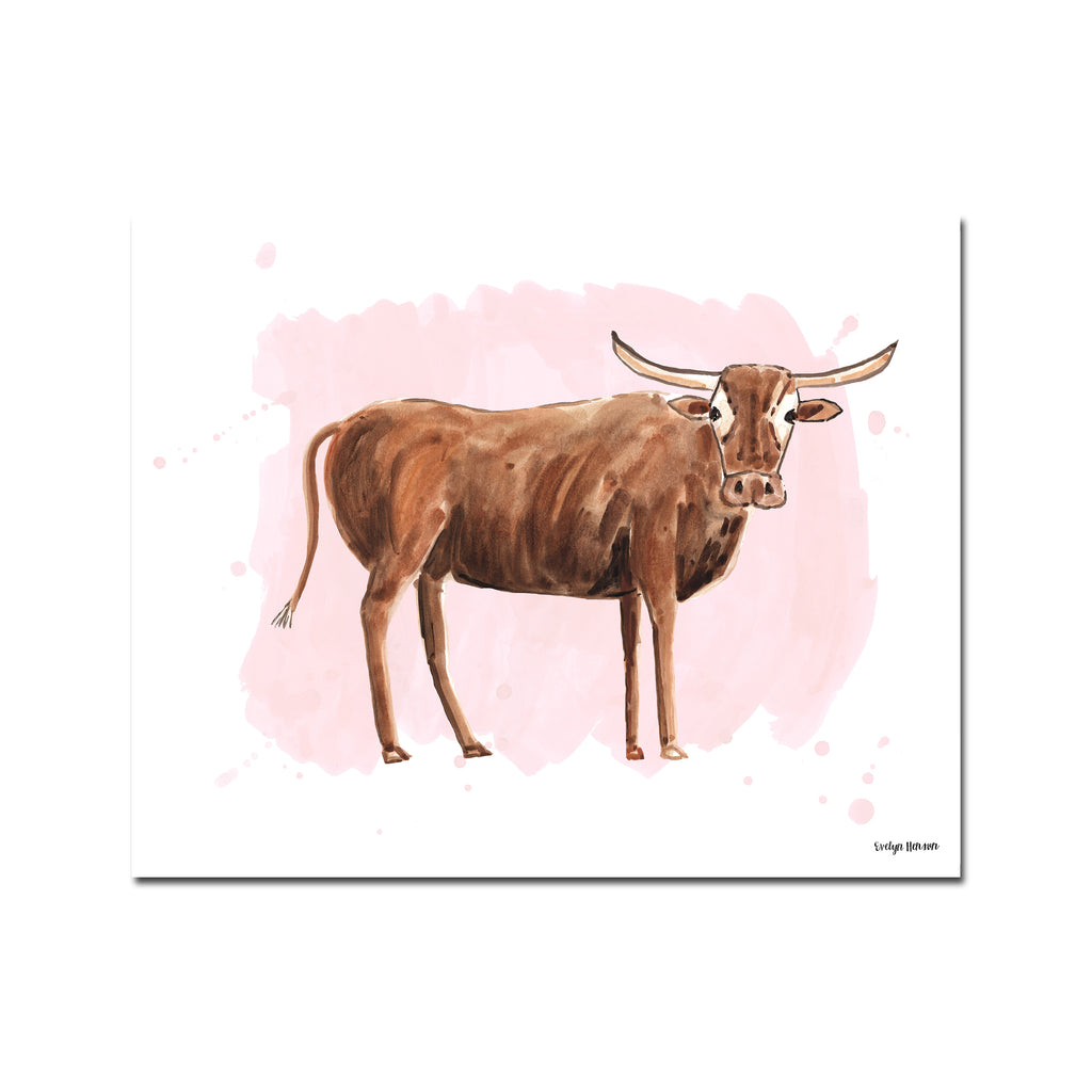 The Bull, Fine Art Print (Additional Colors Available)
