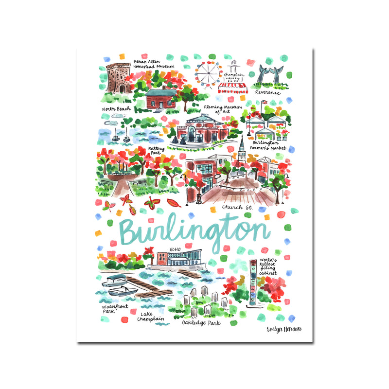 """Burlington, VT"" Fine Art Print"