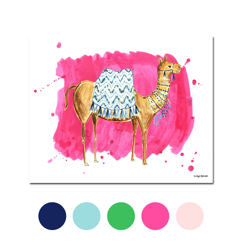 The Camel, Fine Art Print (Additional Colors Available)