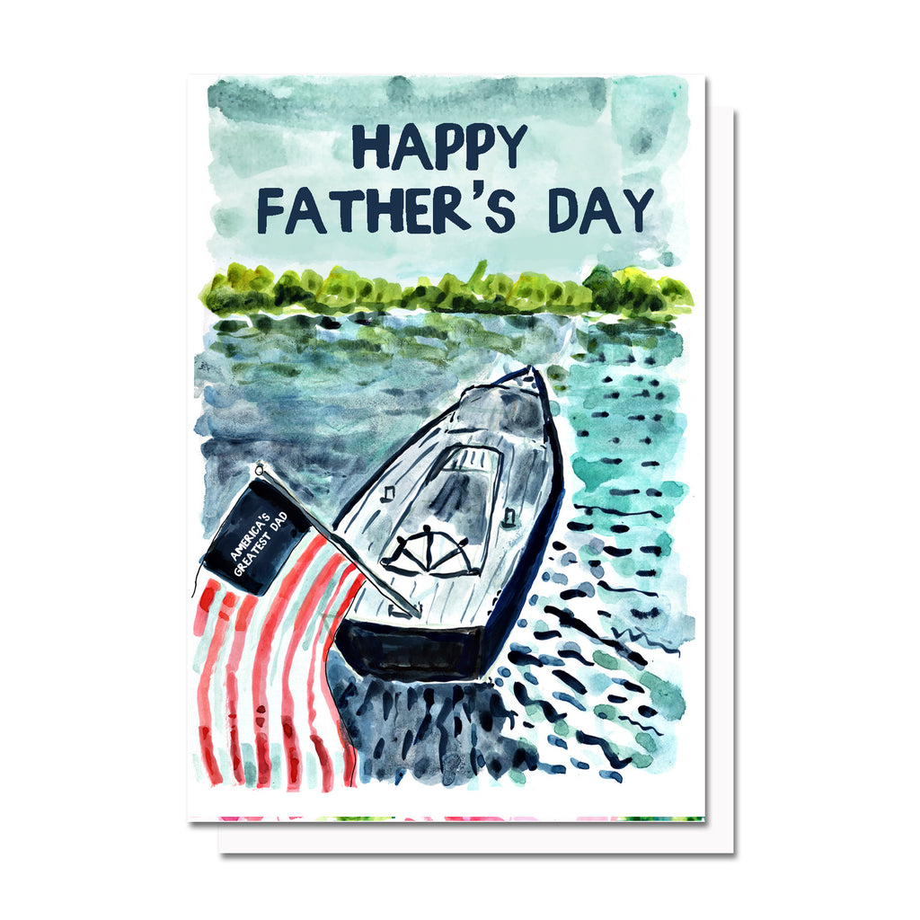 Father's Day Boat Card