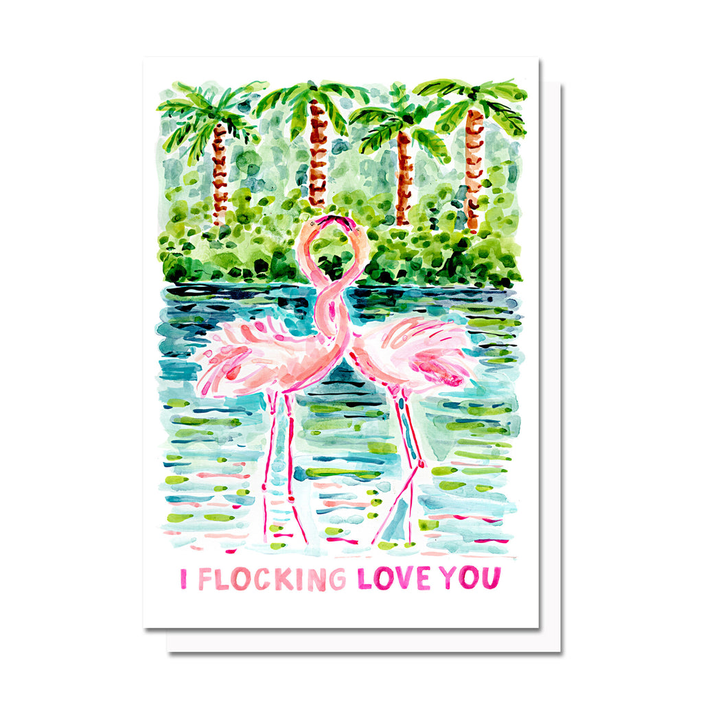 Flocking Love You Card