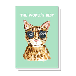 World's Best Cat Mom/Dad Card