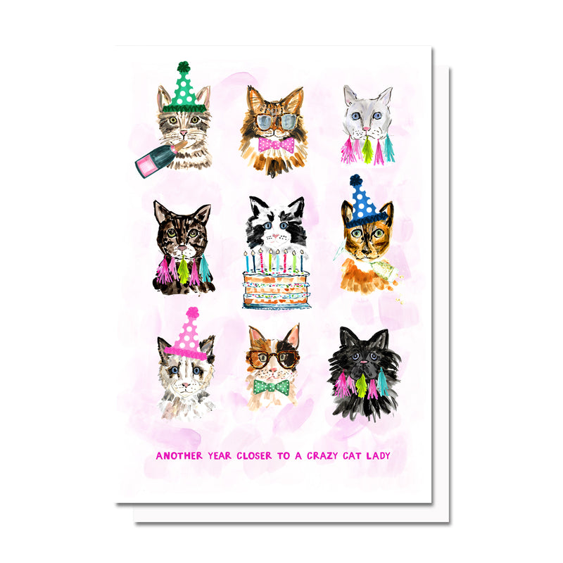 Cat Lady Birthday Card