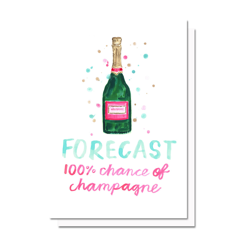 Champagne Forecast Card