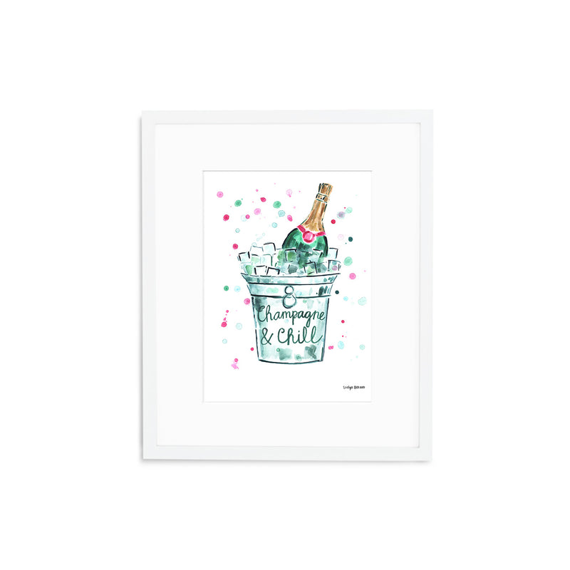"The ""Champagne and Chill"" Fine Art Print"