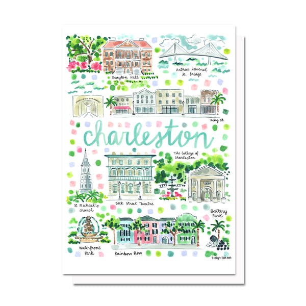 Charleston, SC Map Card