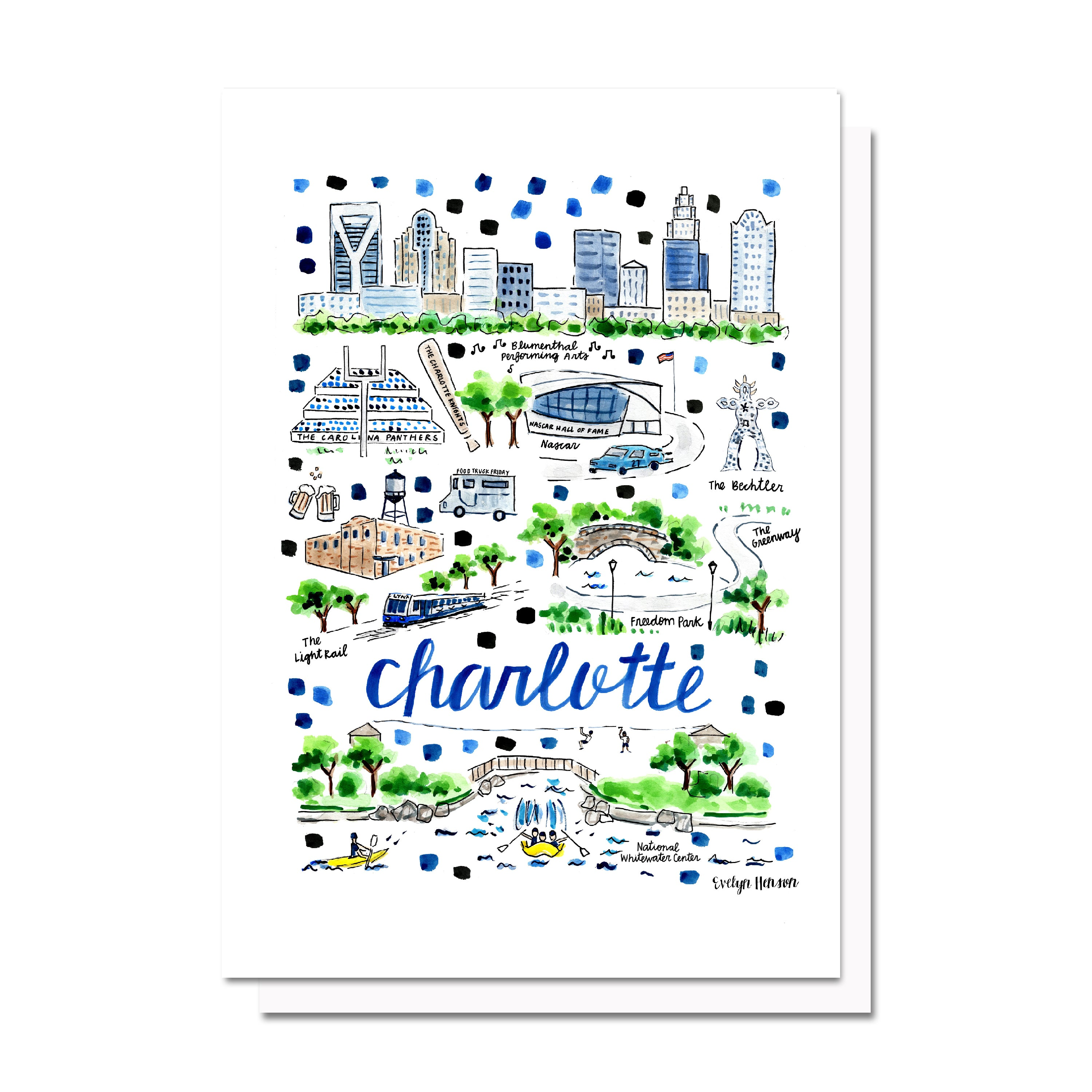 Charlotte, NC Map Card – Evelyn Henson on
