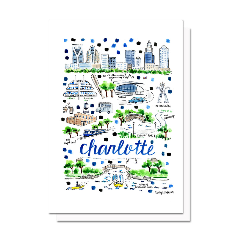 Charlotte, NC Map Card