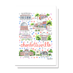Charlottesville, VA Map Card