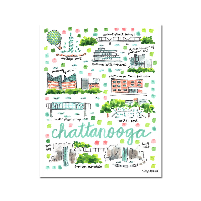 """Chattanooga, TN"" Fine Art Print"