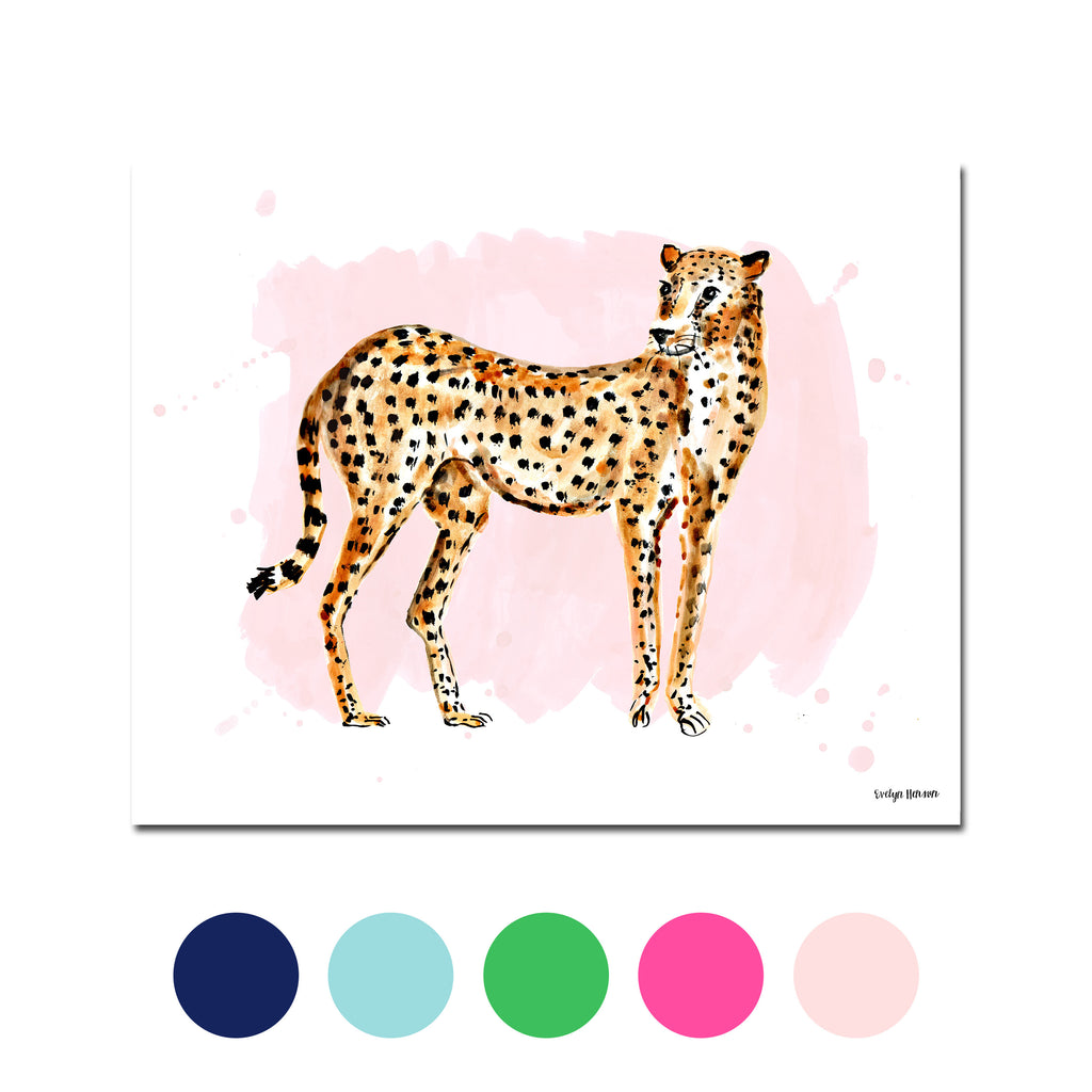 The Cheetah, Fine Art Print (Additional Colors Available)