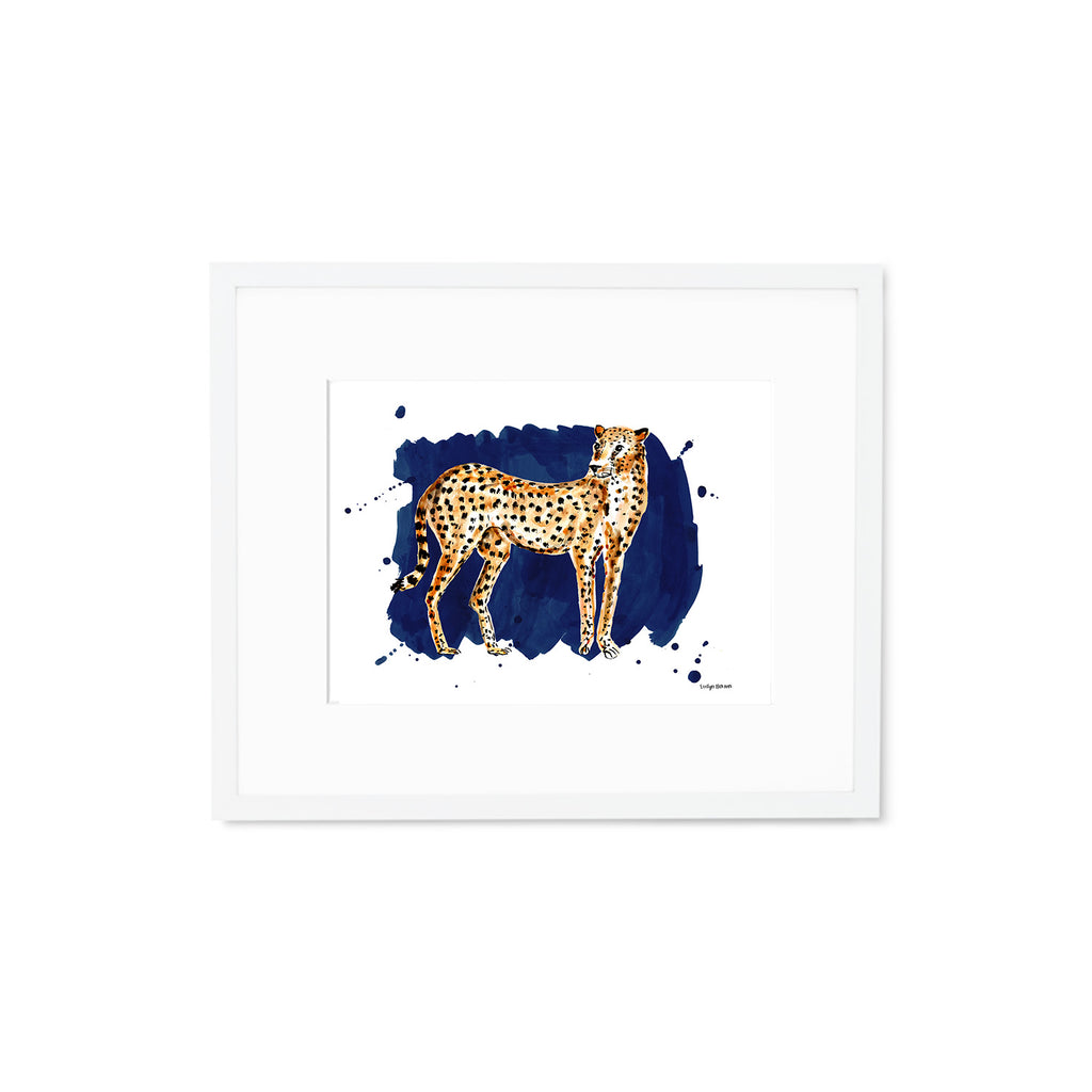 The Cheetah, Fine Art Print (Additional Colors Available) – Evelyn ...