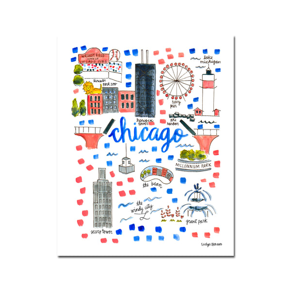 """Chicago, IL"" Fine Art Print"