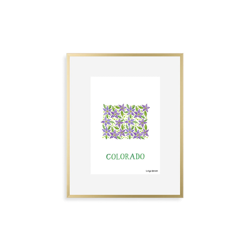 Colorado Rocky Mountain Columbine Flower Print