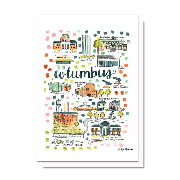 Columbus, GA Map Card