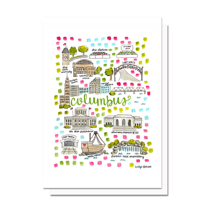 Columbus, OH Map Card