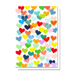 Confetti Hearts Card