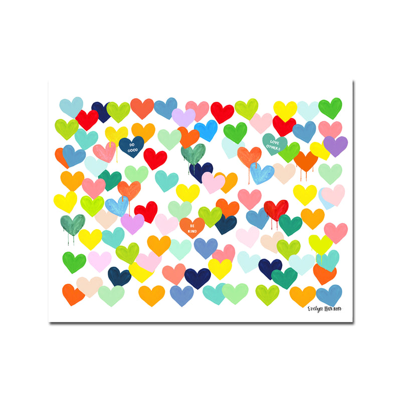 "The ""Confetti Hearts"" Art Print"