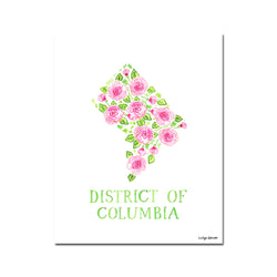 District of Columbia Rose Print