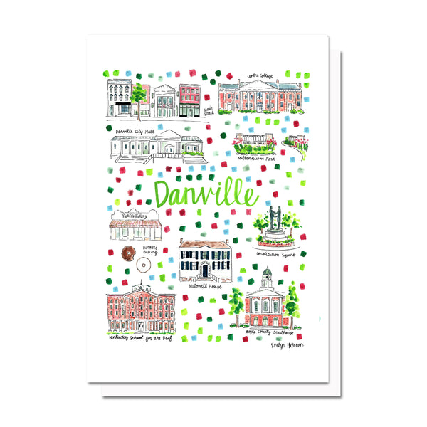 Danville, KY Map Card