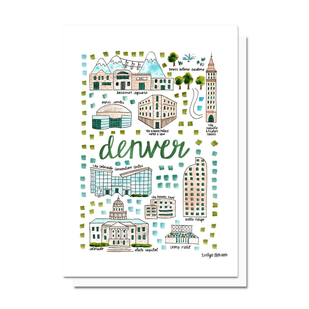 Denver, CO Map Card