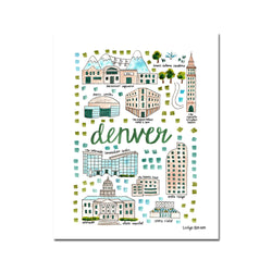 """Denver, CO"" Fine Art Print"