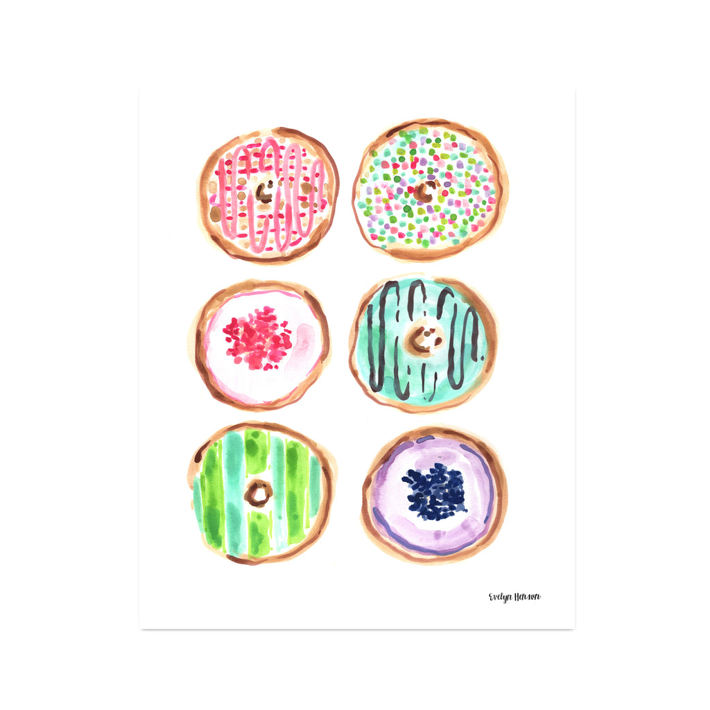 "The ""Donut Worry About a Thing"" Fine Art Print"