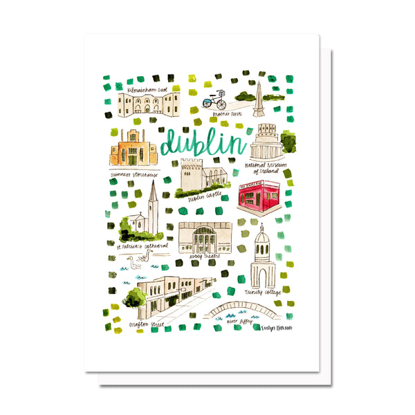 Dublin, Ireland Map Card