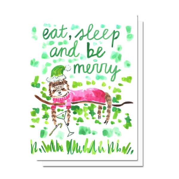 Holiday Eat, Sleep, & Be Merry Card