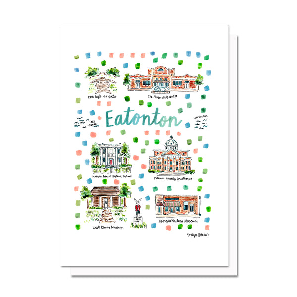 Eatonton, GA Map Card