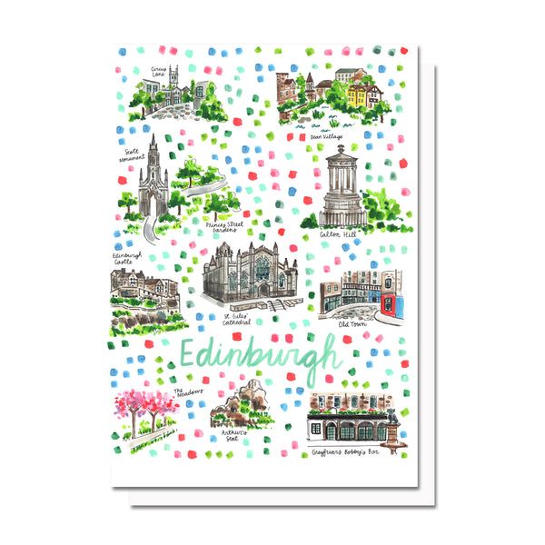 Edinburgh Map Card