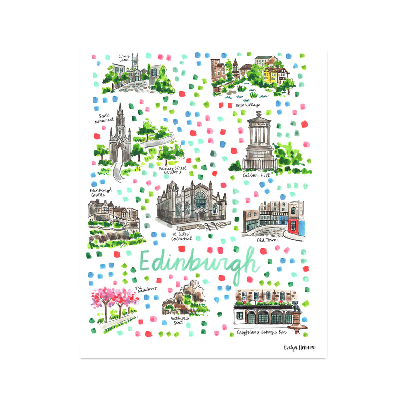 """Edinburgh"" Fine Art Print"