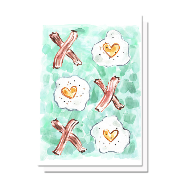 Eggs and Bacon Love Card