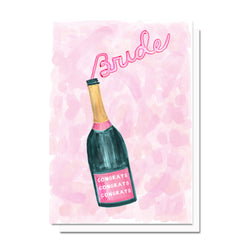 Champagne for the Bride Card