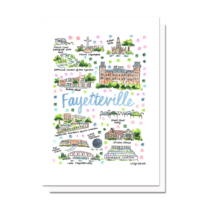 Fayetteville, AR Map Card
