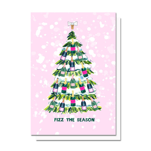 Fizz The Season Holiday Card