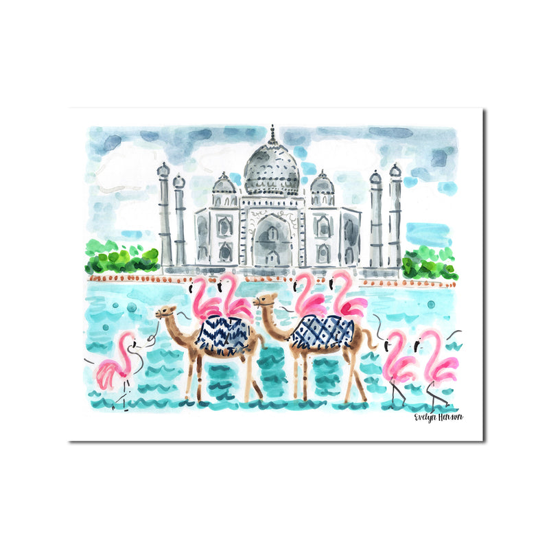 "The ""Flamingo to India"" Fine Art Print"