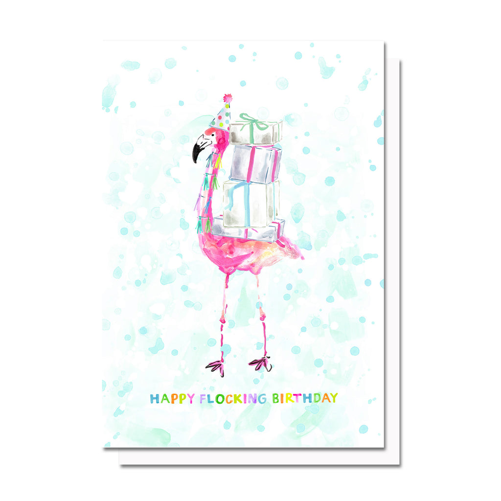 Happy Flocking Birthday Card