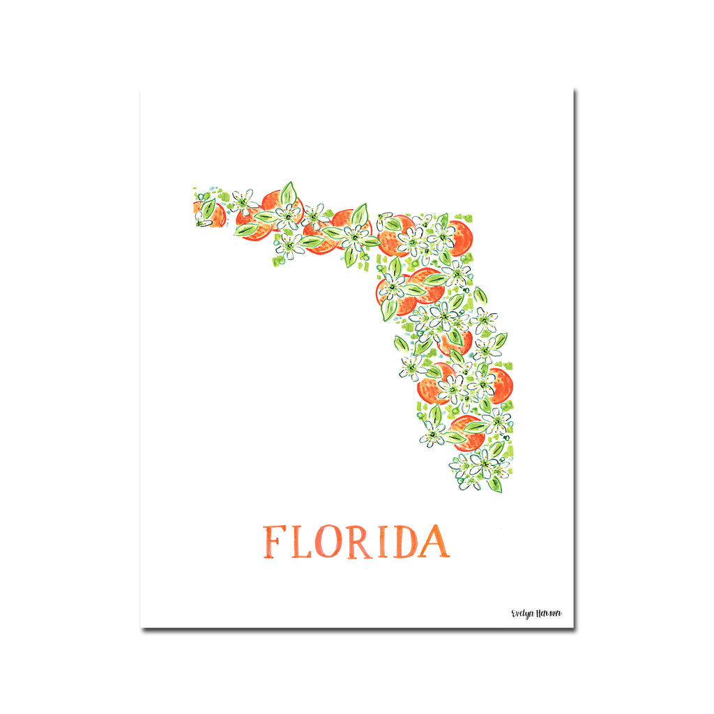 Florida Orange Blossom Flower Print